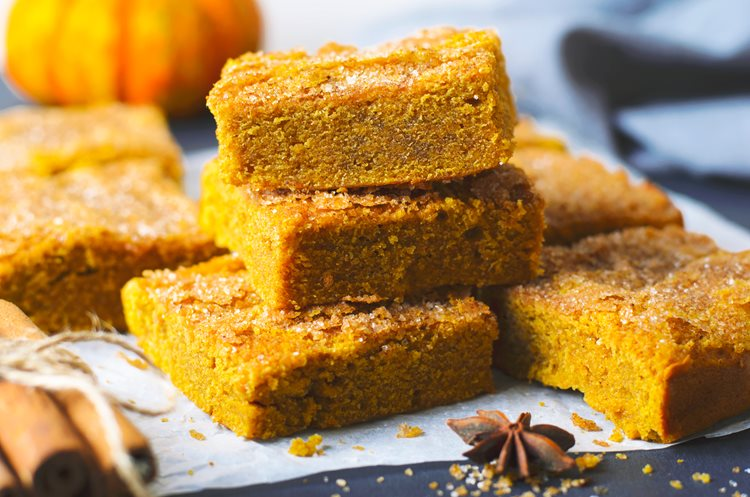 Healthy and Easy 4-Ingredient No-Bake Pumpkin Bars
